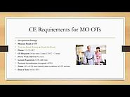Missouri Occupational Therapists Continuing Education and License Renewals