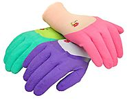 G & F 2030 Women garden gloves with Micro Foam Nitrile coating, texture grip, 3 pair pack