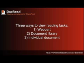 How to read and sign a task in DocRead for SharePoint