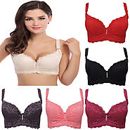 3/4 cup lace push up bra large size sexy women underwear vice milk thin section cup C cup D cup E bra for women-in Br...