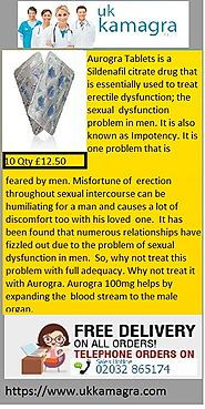 Aurogra Tablets have fizzled out due to the problem of sexual dysfunction in men