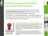 Enabling content contributions from across the enterprise