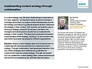 Implementing content strategy through collaboration