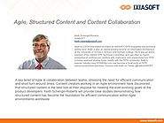 Agile, Structured Content and Content Collaboration
