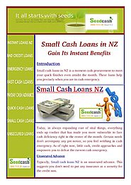 Small cash loans NZ : Unsecured Advance