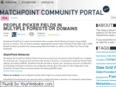 Community Portal for MatchPoint and SharePoint topics