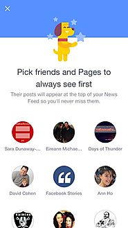 Facebook Tests Feature Letting Users Pick Pages, Friends They'd Want To See Atop News Feed