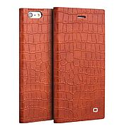 QIALINO Crocodile Pattern Leather Magnetic Flip Case for iPhone 6 - Qialino