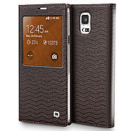 Qialino Waterwave Pattern Leather Case For Samsung Galaxy S5