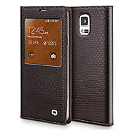 Qialino Crocodile Pattern Leather Case For Samsung Galaxy S5 I9600