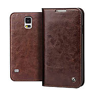 Qialino Classic Leather Wallet Case for Samsung Galaxy S5