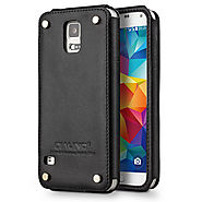 Qialino Leather Back Case for Samsung galaxy S5
