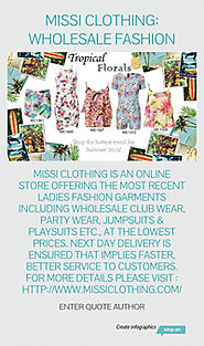Infographic: missi clothing: wholesale fashion
