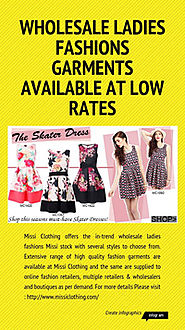 Infographic: Wholesale Ladies Fashions Garments Available at Low Rates | Infogram