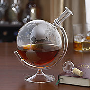 Etched Globe Spirits Decanter