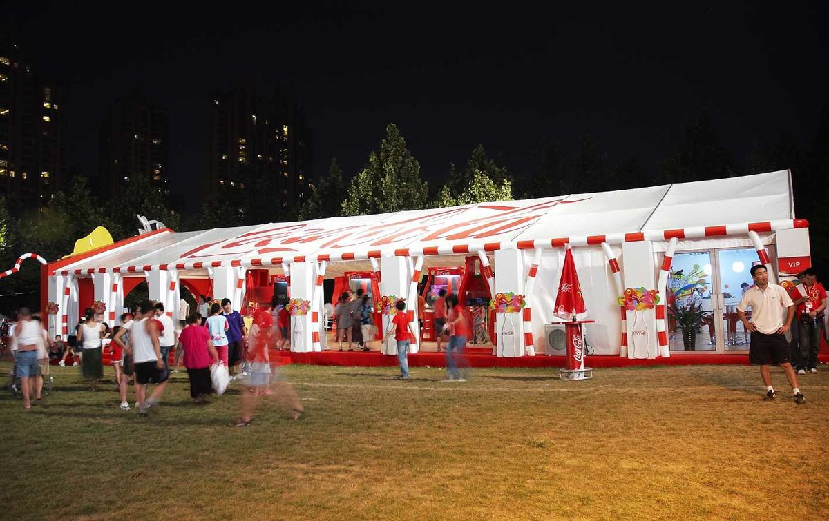 Headline for Outdoor Advertising Event Tent|Party tent