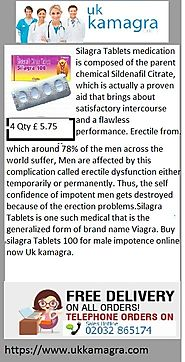 Silagra Tablets brings about satisfactory intercourse and a flawless performance