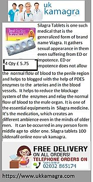 Silagra 100 adds an active ingredient name Sildenafil Citrate