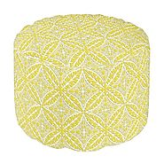 Beautiful Gold Moroccan Poufs