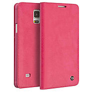 QIALINO Classic Pattern Wallet Leather Case for Galaxy Note 4 - Qialino