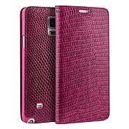 QIALINO Crocodile Pattern Rose Red Leather Case for Samsung Galaxy Note 4 N9100 - Qialino