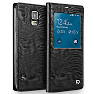 QIALINO Lizard Pattern Leather Case For Samsung Galaxy Note 4 N9100 - Qialino