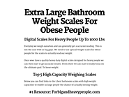 Extra Large Bathroom Weight Scales For Obese People
