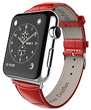 E LV Genuine Leather Band for Apple Watch