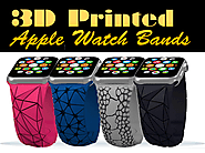 Cubify - 3D Printed Retro Flex Bands for Apple Watch ($39.99)