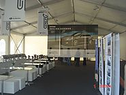 A Frame Tent for SUBARU Car Trade Show