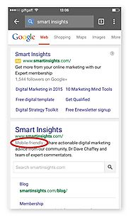 Gearing up for Google's Mobile SEO Update on the 21st April 2015 - Smart Insights Digital Marketing Advice