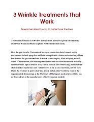 3 Wrinkle Treatments That Work