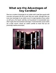 What are the Advantages of Soy Candles?