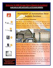 Automation Door Repairs Services in Auckland