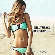 Australian Brand Neon color Sexy Push up Real Winnie Neoprene Triangl Bikini Swimware Set-in Bikinis Set from Women's...