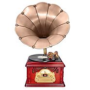 Best Vintage Vinyl Record Player with Horn - Stand - Legs - Aux - Usb - Disco Lights - Ratings and Reviews 2015 on Fl...