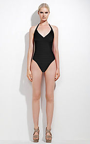 2014 Herve Leger One-Piece Black V-Neck Sexy Bandage Swimsuit [Cheap HL Swimsuit 0001 Black] - $103.00 : BCBG Dresses...