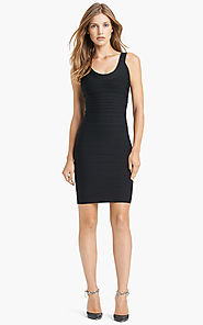 2015 Sleeveless Black Herve Leger U-Neck Bandage Stretchy Knit Dress [2015 HL 0023 Black] - $170.00 : BCBG Dresses On...