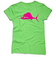 Costa Del Mar Sunglass Sail Ladie's Lime T-Shirt