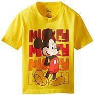 Mickey Mouse Little Boys' Classic Toddler Tee, Yellow, 2T