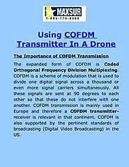 Using COFDM Transmitter In A Drone