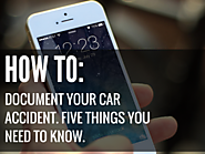 How to properly document your car accident: 5 things you need to know