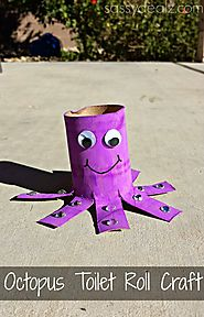 Octopus Toilet Paper Roll Craft For Kids - Crafty Morning