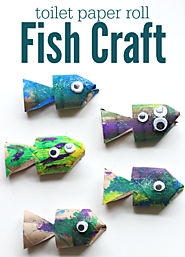 Toilet Paper Roll Fish Craft - No Time For Flash Cards