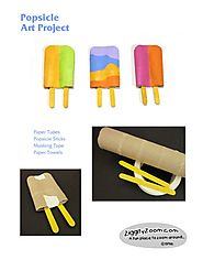 Popsicle Art Project for Kids