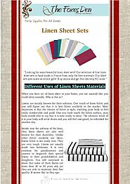 How to Uses of Linen Sheets Materials