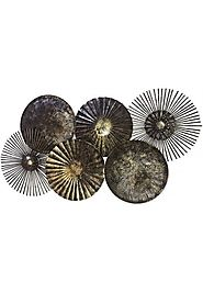 DecorShore Brass Abstract Nature Metal Decorative Wall Art For Home Decor - Decorshore