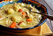 Crockpot Chicken and Dumplings - Great choice for a weekday dinner.