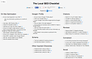 The Local SEO Checklist by Synup