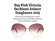 Buy Pink Victoria Beckham Aviator Sunglasses 2015